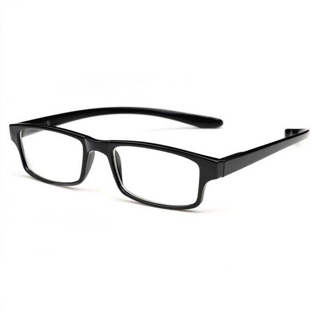 老眼鏡 首に掛けられ 携帯用 ケース付き おしゃれ メンズ る リーディンググラス 超弾性 柔らかい フレーム 目の疲れを和らげる 1.0 1.5 2.0 2.5 3.0 +3.0, ブラック