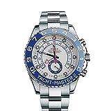 RolexヨットマスターII 44mmホワイトダイヤルステンレススチールメンズ腕時計116680