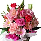 フラワーギフト 里の花 季節のお花おまかせフラワーアレンジメントB ピンク系