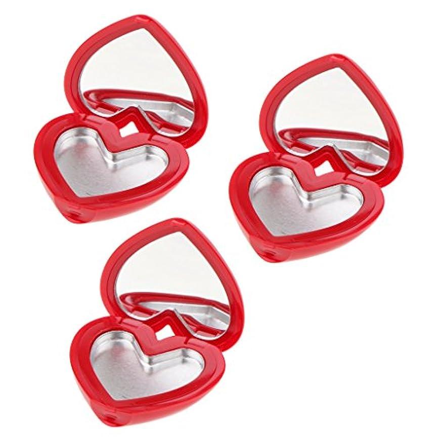 Perfk コスメ 詰替え 収納ケース 口紅 アイシャドウ ハート型 手作り プレゼント おしゃれ 全4色 - 赤