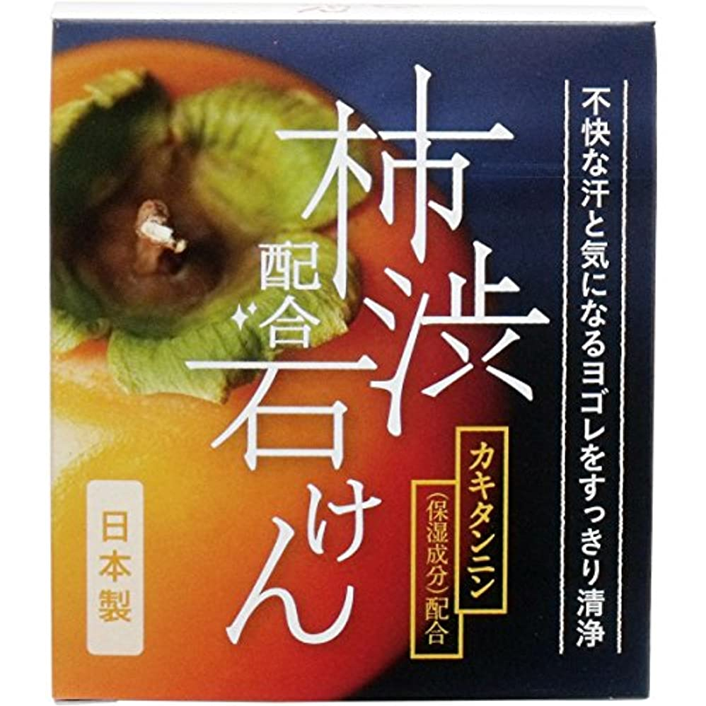 ボウリング治療短くするW柿渋配合石けん WHY-SKA 100g