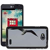 ケース カバー ハードケース// LG Optimus L70 MS323 // M00130878 Seagull Fly Wing Water Bird Animal