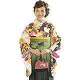 (キョウエツ) KYOETSU ククー メモワール Coucou Memoire 卒業式 二尺袖着物 女性 振袖 単品 猫と桜 (L, N-12)