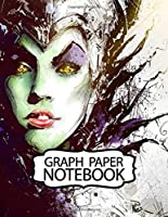 Notebook: Maleficent American Dark Fantasy Kingdom Adventure Powerful Fairy Magical Forest Boys Kids Elementary, Soft Glossy Graph Paper, Inexpensive Gift For Boys And Girls, 110 Pages 8.5 x 11 Inches