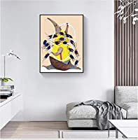 Liwendi アリクイとマウス北欧漫画抽象キャンバス絵画子供部屋の壁アートポスターとフレームなしで印刷40 * 60 Cm