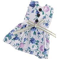 Dovewill  20cm 8インチブライスドール対応 花柄 袖なし ドレス 人形 スカート