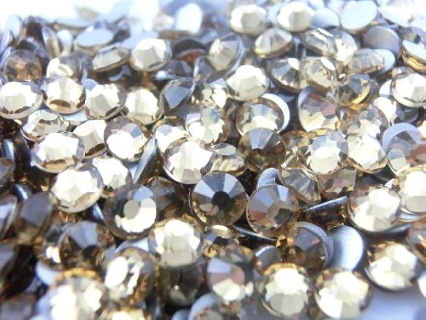 行商贈り物段階【ラインストーン77】 超高級 ガラス製ラインストーン SS4~SS30 ライトコロラドトパーズ スワロフスキー同等 (4.0mm (SS16) 約150粒)