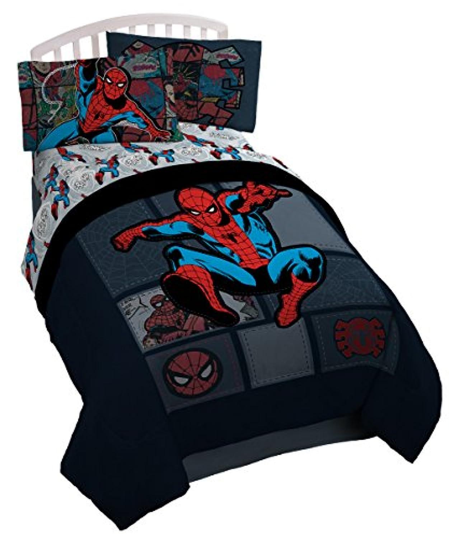 [マーベル]Marvel Spiderman 'Jump Kick' Reversible Twin Comforter JF22940KMCD [並行輸入品]