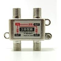 TVアンテナ3分配器 BS/CS/地デジ対応 全通電型