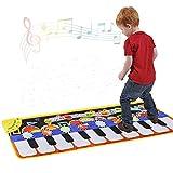 Cyiecw ピアノミュージックマット・キーボードプレイマット・ミュージック ダンス マット・19鍵盤ピアノ マット・8種類の異なる楽器が内蔵・スピーカー搭載・録音・再生・デモモードもあり・サイズ43.3'' x14.2''(110 x 36 cm)