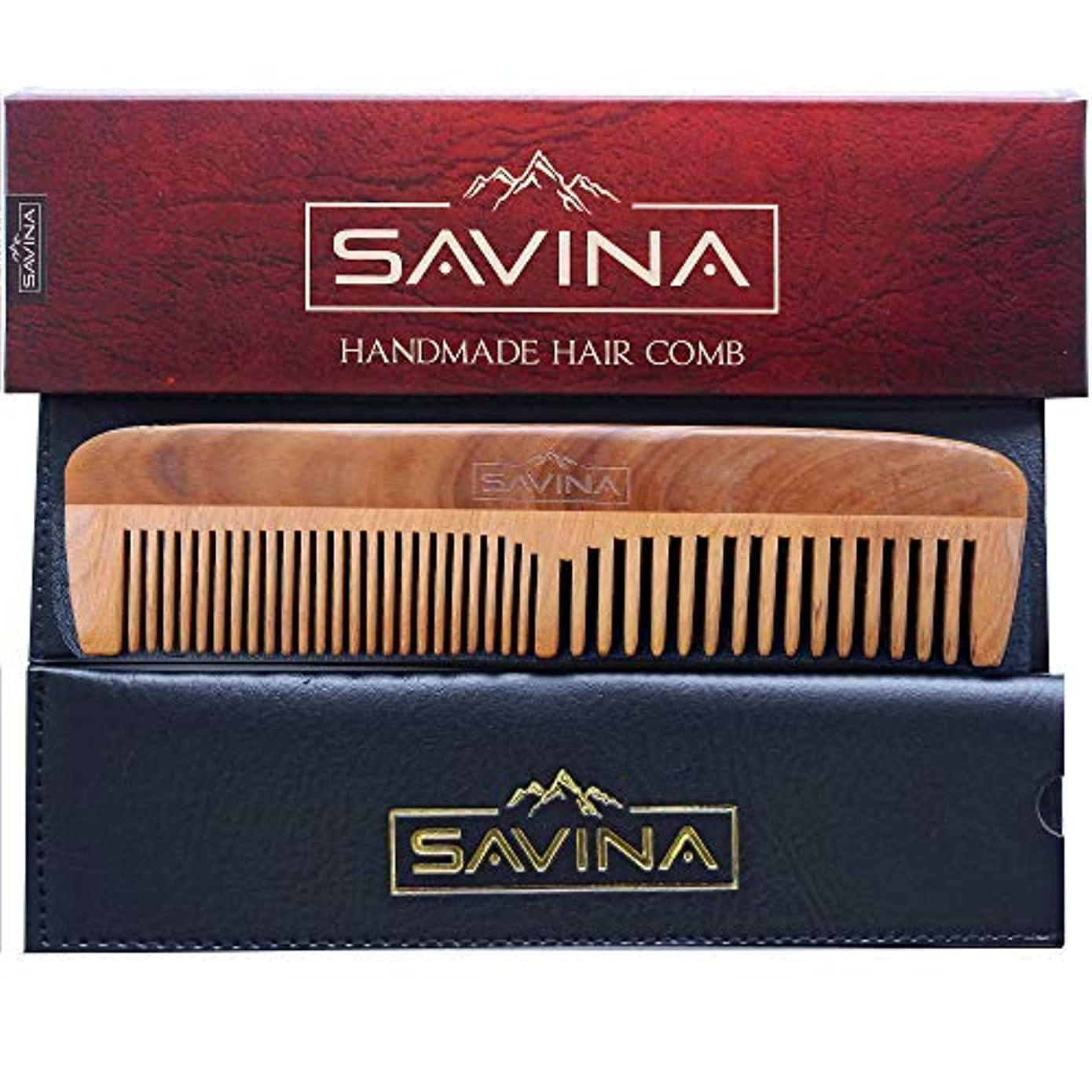 仲人ミサイル可能性Comb For Men - Hair and Beard Comb with Fine and Medium Tooth | Anti Static, No Snag | Pocket Wooden Comb for...