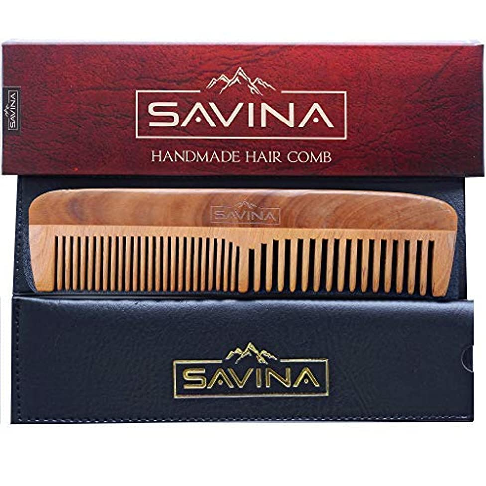 Comb For Men - Hair and Beard Comb with Fine and Medium Tooth | Anti Static, No Snag | Pocket Wooden Comb for...