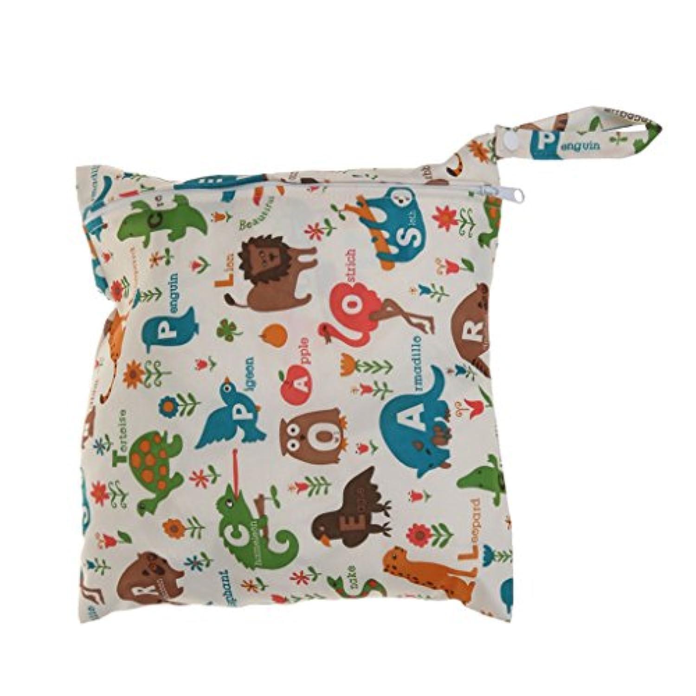SONONIA 防水 再利用可能 赤ちゃん ジッパー おむつ袋 ウェット ドライ 水泳 トラベル トート バッグ 収納バッグ 全11色 選べる - #1