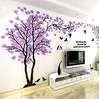 RaiFu ウォールステッカー 恋人のツリー 3D 壁のステッカー 家飾り 寝室 壁 装飾 芸術的 壁のステッカー 壁飾り おしゃれ 1.3m*2.5m 紫 左側