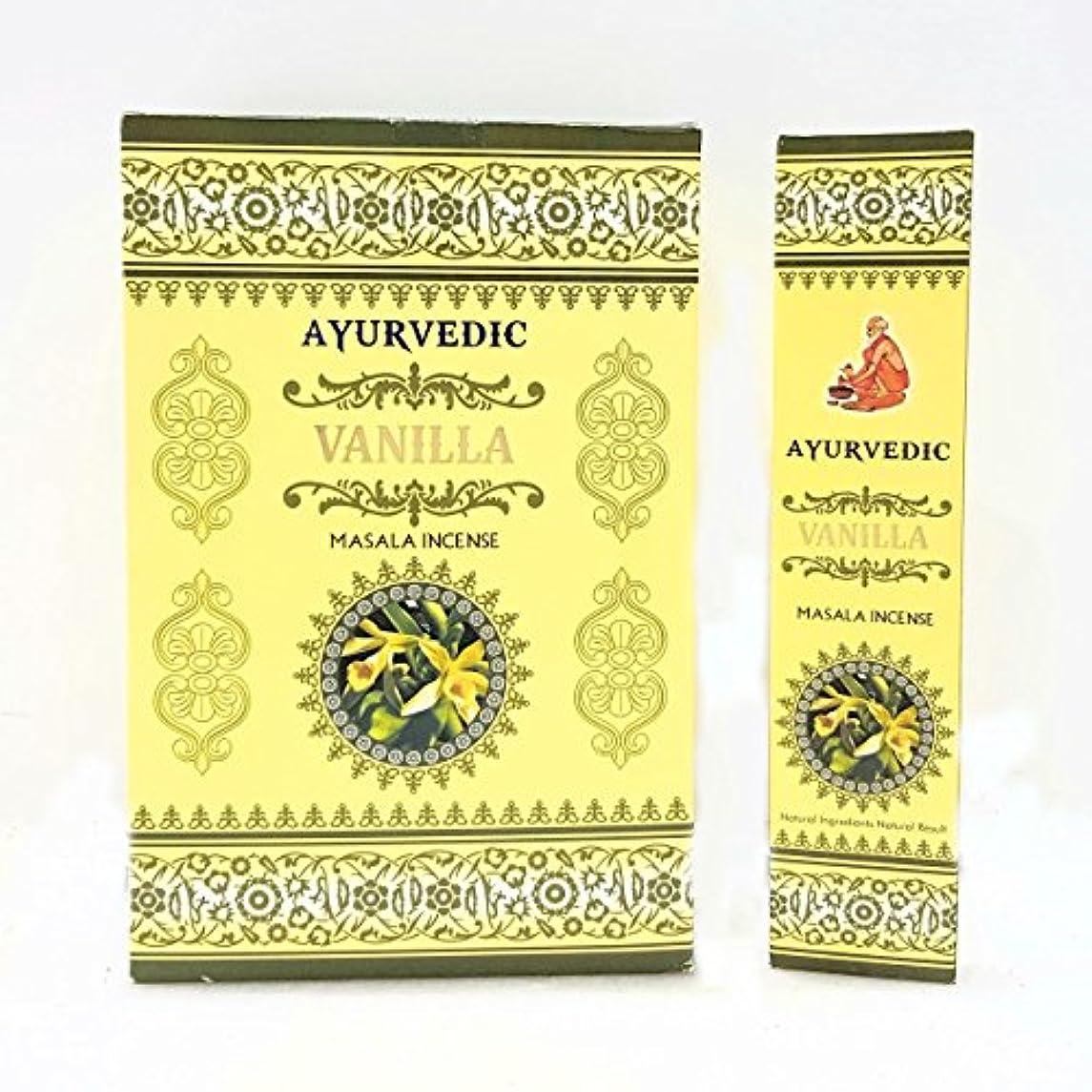 過激派コントロール床を掃除するアーユルヴェーダバニラMasala Incense Sticks Agarbatti (12パックX 15 Sticks各)