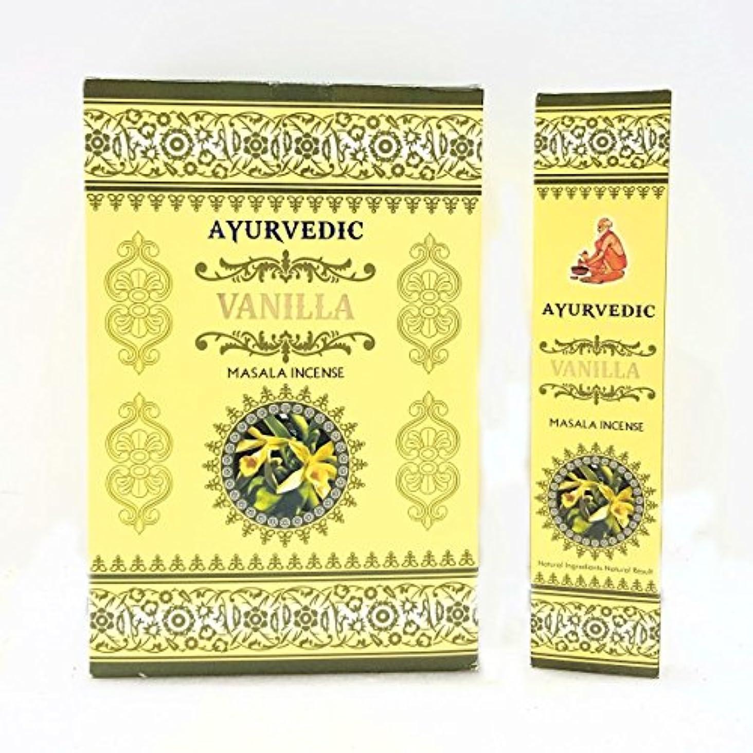 プーノ劣るインチアーユルヴェーダバニラMasala Incense Sticks Agarbatti (12パックX 15 Sticks各)