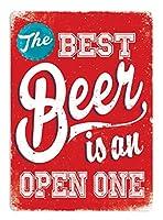 Best Beer Red 注意看板メタル安全標識注意マー表示パネル金属板のブリキ看板情報サイントイレ公共場所駐車ペット誕生日新年クリスマスパーティーギフト