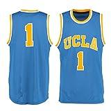 NCAAメンズ# 1ブルーUCLA Bruins Collegeバスケットボールジャージー X-Large