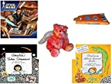 Girl's Gift Bundle - Ages 6-12 [5 Piece] - STAR WARS Jedi Unleashed Game - Looney Tunes Bugs Bunny Travel Hair Brush/Comb Combo - Pink Tye-dye Angel Bear Plush 10