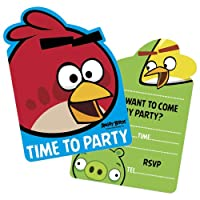 Angry Birds Party Invitations, Pack of 6