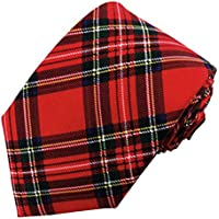 Boys' Prep Red Christmas Plaid Regular Length Neck Tie
