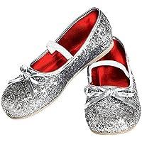Rubie's Costume Silver Glitter Child Flat Shoes Large [並行輸入品]