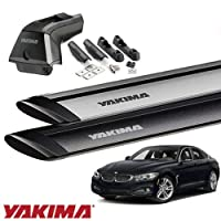 [YAKIMA 正規品] BMW 4シリーズ グランクーペ F36型 フィックスポイント付き車両に適合 (スカイラインタワー・ランディングパッド11×2・ジェットストリームバーS) シルバー