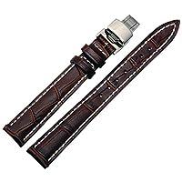 [エイト]腕時計ベルト 12mm ブラウン(白糸) レザー ELB111 [並行輸入品]