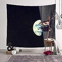 HBJP タペストリー美しい月吊りパッド壁掛けタペストリーリビングルームの寝室装飾タペストリーウォールアート タペストリー (色 : C, サイズ さいず : 203x150)