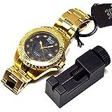 ベルト調節工具付 LONO ロノ ハワイアンジュエリー ハワイ 腕時計 10気圧 メンズ ゴールド LGA230403