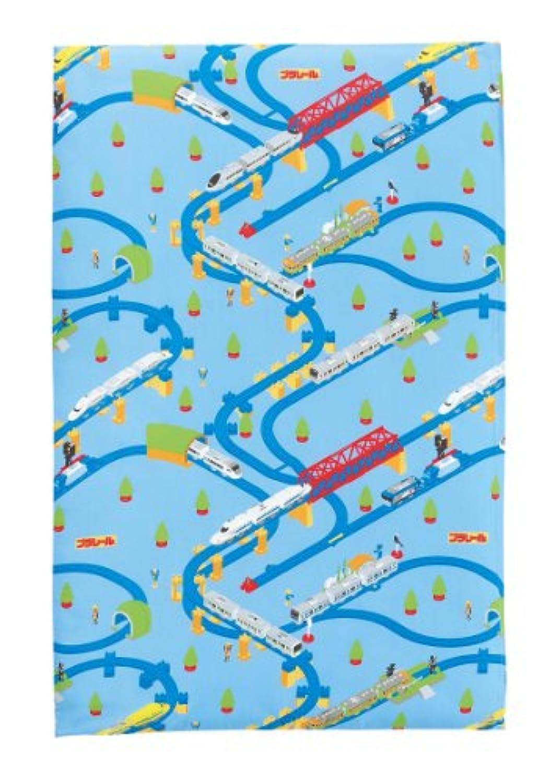 西川 リビング キッズ 合繊 敷布団 90×140cm プラレール01 ブルー