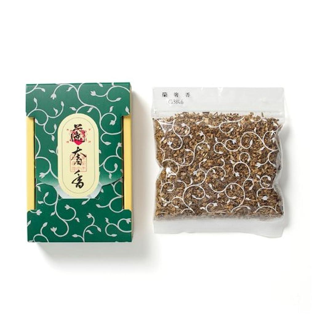 差し控える床を掃除する腹松栄堂のお焼香 蘭奢香 25g詰 小箱入 #410741