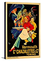 Vermouth chazalettesヴィンテージポスター(アーティスト: Roch )フランスC。1923 16 x 24 Gallery Canvas LANT-3P-SC-74191-16x24