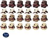 わんちゃん 犬 モチーフ ハンカチタオル ミニタオル ハンドタオル 個別包装 もこもこふわふわ プチギフト 粗品 景品 Thank youシール付 (03 24個セット(4色×6個))
