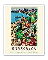 イタリア - すべてのスポーツにもっとも美しい国 - ビンテージな世界旅行のポスター によって作成された アドルフ・ムーロン・カッサンドル c.1935 - キャンバスアート - 41cm x 51cm キャンバスアート(ロール)