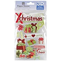 Paper House Productions STDM-179E 3D Stickers, All I Want for Christmas [並行輸入品]