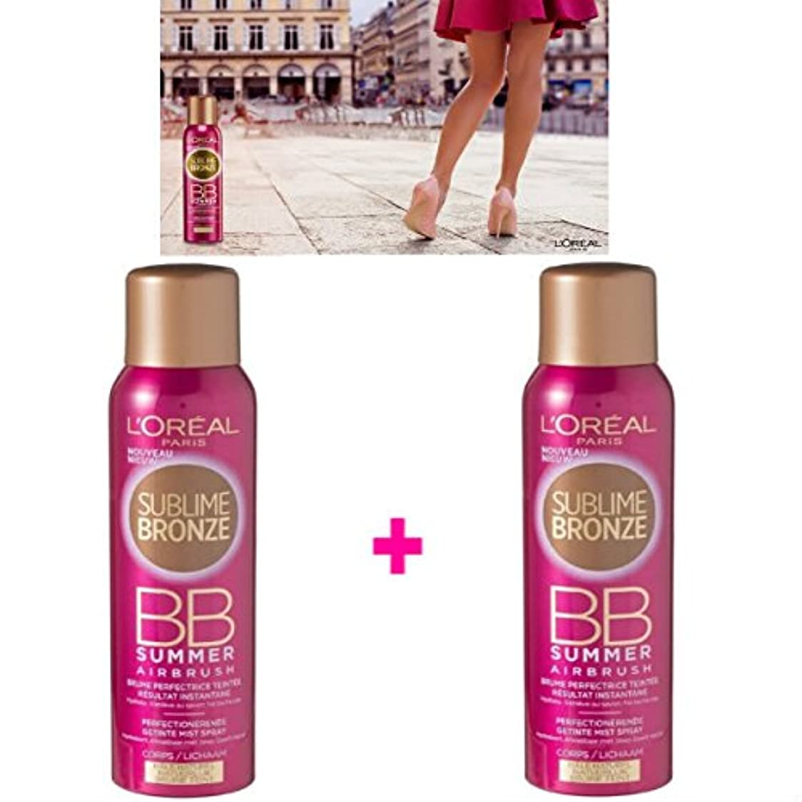無知故国信頼できるL 'Oréal Paris Nebel Tint ohne Selbstbräuner Körper (2 x 150 ml) (Lot de 2 Produkte)