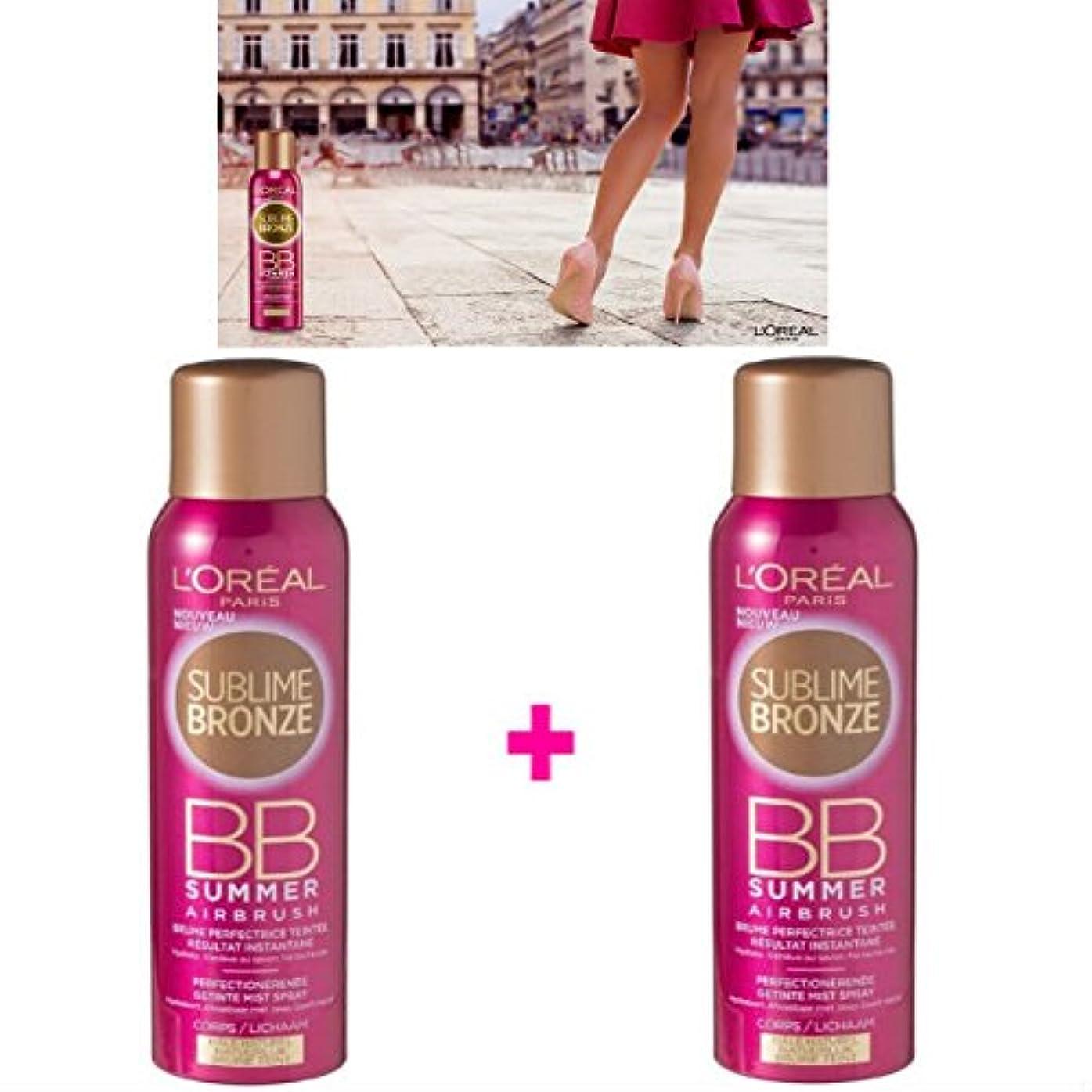 欺比較的癒すL 'Oréal Paris Nebel Tint ohne Selbstbräuner Körper (2 x 150 ml) (Lot de 2 Produkte)