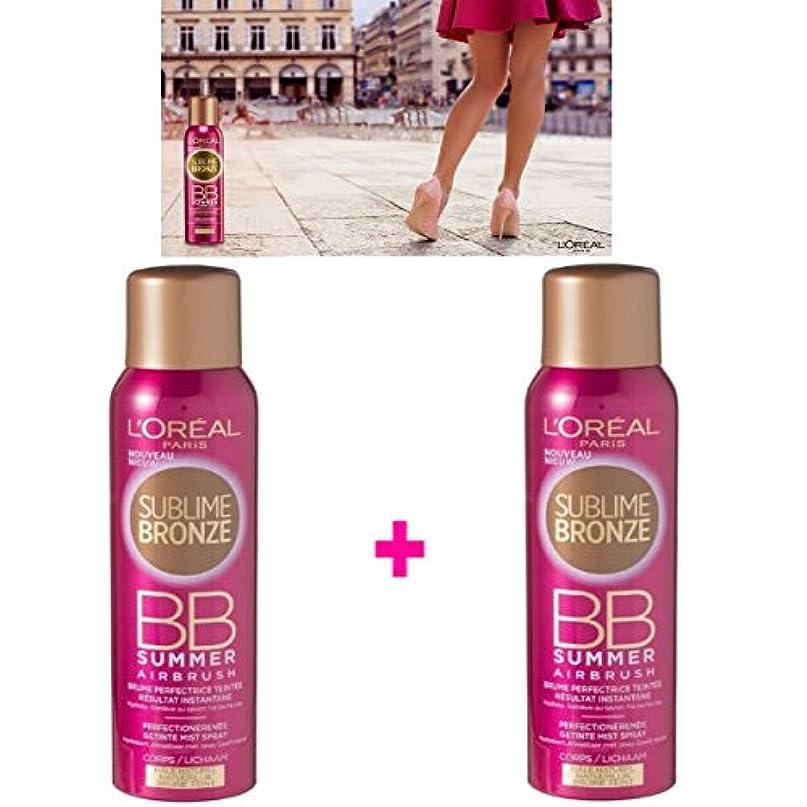 衝突する自治スタンドL 'Oréal Paris Nebel Tint ohne Selbstbräuner Körper (2 x 150 ml) (Lot de 2 Produkte)