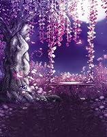A Monamour Enchanted Fairy Tale写真の背景幕for Kids Portrait写真背景Studio小道具パープルEnchantedツリー