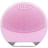 FOREO Luna Go Portable and Personalized Facial Cleansing Brush with Anti-Aging for Normal Skin, USB Rechargeable and Waterproof, 122g