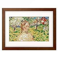 エドヴァルド・ムンク Edvard Munch 「Woman in a garden」 額装アート作品