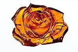 透明感抜群 彫綺麗 琥珀薔薇彫り12.3gルースno3