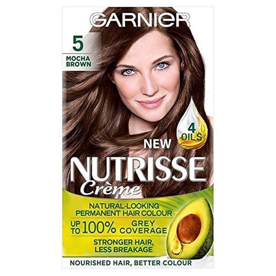 実質的突き出す後悔[Garnier ] ガルニエNutrisse永久的な毛髪染料ブラウン5 - Garnier Nutrisse Permanent Hair Dye Brown 5 [並行輸入品]