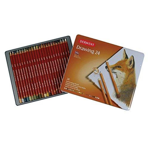 ダーウェント 色鉛筆 ドローイングペンシル 24色セット