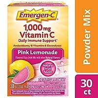 Alacer - Emergen-CのピンクのビタミンCエネルギーブスターのピンクのレモネード 1000 mg。30パケット