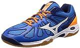 [ミズノ] バドミントンシューズ ウエーブスマッシュ LO4 (現行モデル) ブルー×ホワイト×オレンジ 26.5 cm