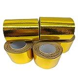 車断熱テープ 自動車排気管装飾テープ 防熱アルミ箔テープ 50mm/100mm規格 耐熱耐腐食 優れた粘着力