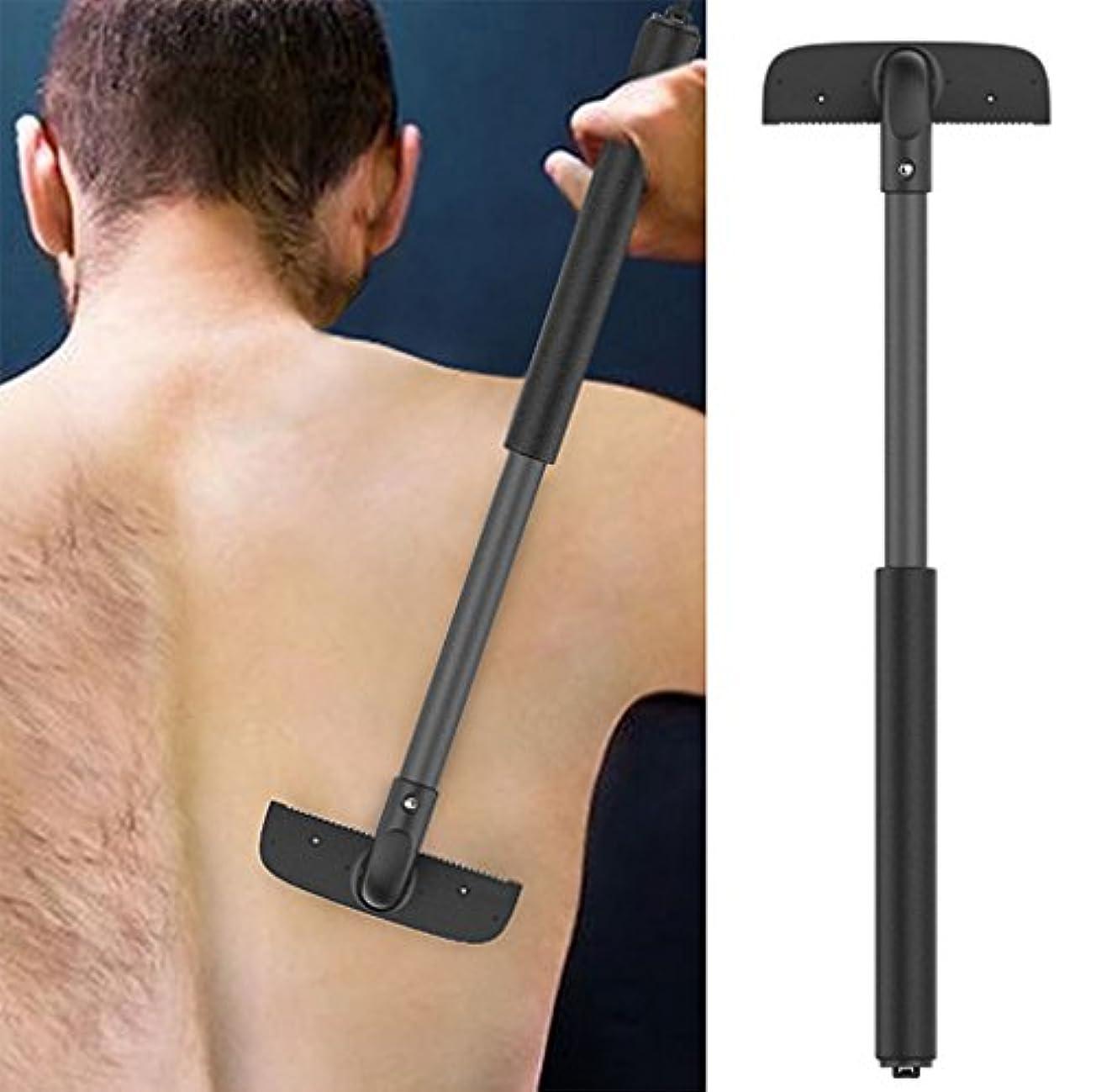 軽減する階行方不明ユニセックスマニュアルバックヘア除去とボディシェーバー、引き込み式脱毛装置、ドゥーイットユアバックヘアシェーバー