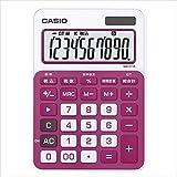 カシオ:カラフル電卓 ミニジャストサイズ ルージュピンク MW-C11A-RD-N 20606